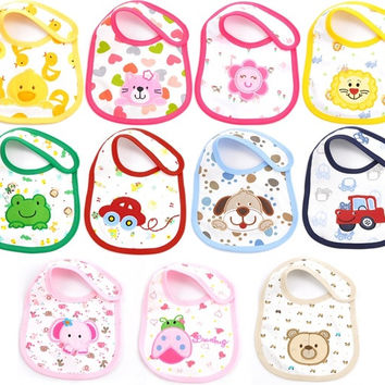 1 Pc Animal bib Cartoon Toddler Infant Baby Boys Girls Bibs for Babies Clothes Cotton Brand Carters = 1705629124