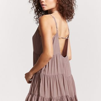 Tiered-Seam Cami Dress