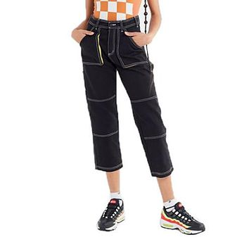 Women Loose Fashion Sports Jeans Leisure Harem Pants Trousers