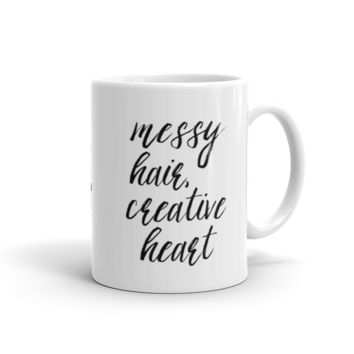 Messy Hair Creative Heart Mug
