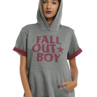 Fall Out Boy Logo Girls Short-Sleeved Hoodie