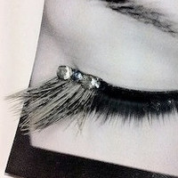 Buy 2 get 1 FREE Silver BlueGray Feather False by CatsMeow1940