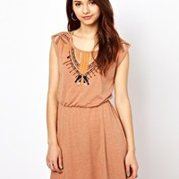 River Island Short Embroidered Dress at asos.com