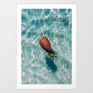 Ah, Summer: Pineapple Art Print by codyyjohnson