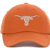 Texas Longhorns New NCAA Women's Butterfly Orange Adjustable Fit Hat -One Size Fits All