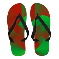 Danish Heart 11 - Men's Christmas Flip Flops