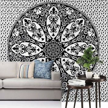 Ouneed Wall Hanging Tapestry India Mandala Home Decorative Accessories Printed Beach Towel Mat Bed Cover Happy Sale ap516