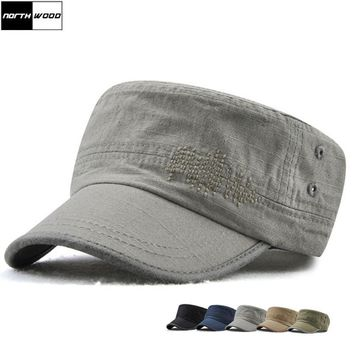 Trendy Winter Jacket [NORTHWOOD] High Quality Flat Top Baseball Cap Men Solid Casquette Women Washing Fitted Hats Snapback Dad Hat 100% Cotton AT_92_12