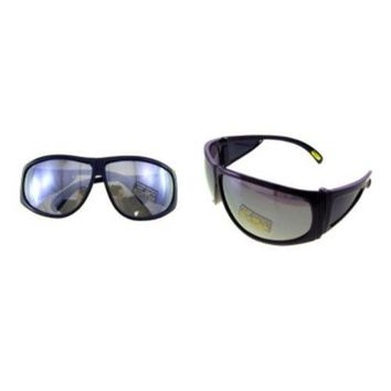 DCCKU7Q Large Frame Sunglasses with Silver Mirrored Lenses