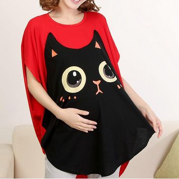 Maternity Funny Kitty Cat Tshirtm