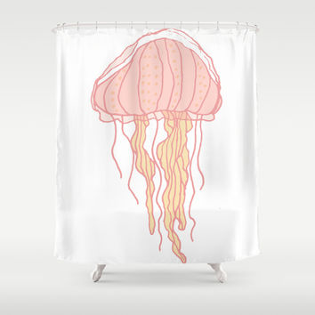 Jellyfish Shower Curtain by Doucette Designs