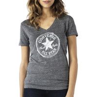 Converse - Womens Sketched Heather Chuck Patch Tee - Optic White -
