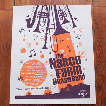 The Narco Farm Brass Band Print