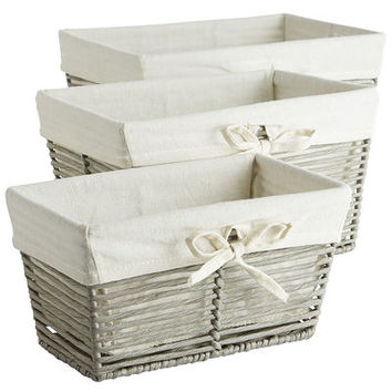 Gray Paper Rope Basket Set