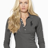 Slim-Fit Cropped-Sleeved Polo