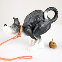 At Last Rufus the Dog Going Poop Statue 4.25L
