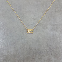 Colorado Flag Gold Necklace