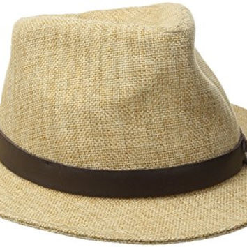 Goorin Bros. Women's Kendo Jute Fedora Hat, Natural, Medium