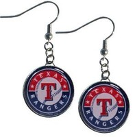 MLB Texas Rangers Charm Dangle Earrings