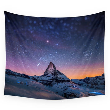 Society6 Mountain View Wall Tapestry