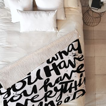 Kal Barteski If You Love Fleece Throw Blanket