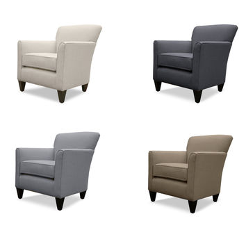 Gillian Linen Lounge Chair | Overstock.com Shopping - The Best Deals on Living Room Chairs