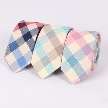 Mantieqingway Business Suits Cotton Neckties Ties For Men Formal Wedding Plaid Jacquard Necktie Brand Mens Bow Ties Cravats
