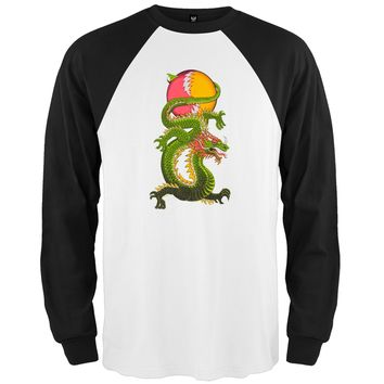 Grateful Dead - Lightning Bolt Dragon Raglan