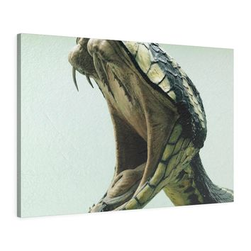 Venomous Bite Leather Snake Canvas Print