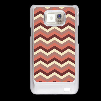 Brown Chevron Pattern Samsung Galaxy S2 case, i9100 cover, Samsung Galaxy SII cover, hard case