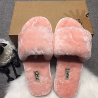UGG: wool in one word drag slippers
