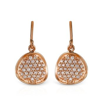 14k Rose Gold .25ct Diamond Earrings