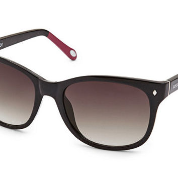 Fossil Neely Cat Eye Black and Pink Sunglasses