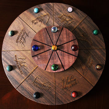 HOLIDAY SALE PRICE! Extra Large Deluxe Double Spinning Heirloom Wheel of The Year Altar Wheel