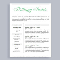 Professional Resume Template | Made To Order Header | Instant Download | Word and Pages | Free Cover Letter | One Page | CV Template