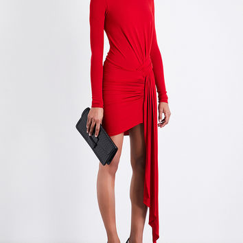 ALEXANDRE VAUTHIER Ruched asymmetric-panel stretch-jersey mini dress