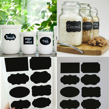Free Shipping 40PCS/Set New Wedding Home Kitchen Jars Blackboard Stickers Chalkboard Lables 20.5 * 23cm