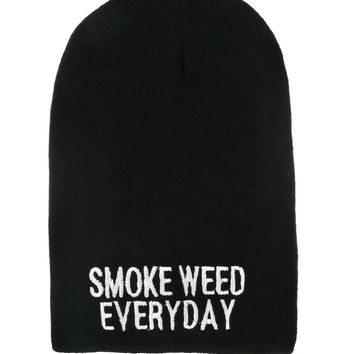 SMOKE WEED EVERYDAY BEANIE