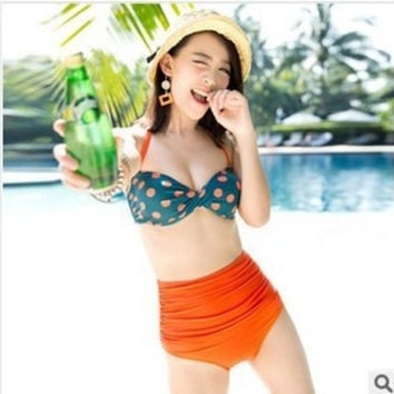Women High Waisted Bikini Swim Suit Beach Bathing Suits Swimwear _ 13031