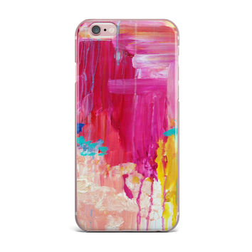 "Ebi Emporium ""Elated"" Multicolor Paint iPhone Case"