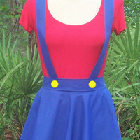Mario or Luigi Female Adult Sized Cosplay Costume - Sizes Teen through Plus Sized Adult Women