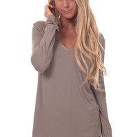 Coco Long Sleeve V Neck Top