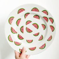 Large Ceramic Watermelon Plate
