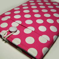 iPad Case, iPad Air Case, iPad Sleeve, iPad Air Cover, iPad Air Sleeve, Samsung Galaxy Pro, Kindle Fire 8.9, Nook HD 9, Pink Polka Dots