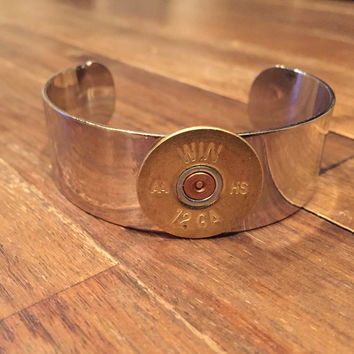 Nickel Shotgun Shell Cuff