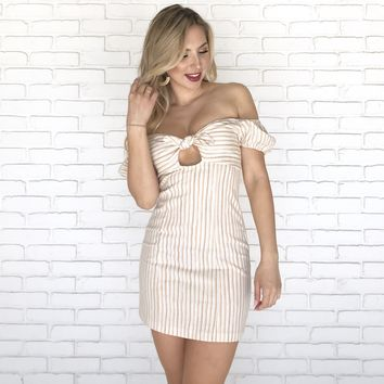 Spring Fling Knotted Mini Dress