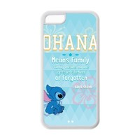 Cute Cartoon Design Ohana Rubber(TPU) Durable Cover for iPhone 5C ,Ohana iPhone 5C Case
