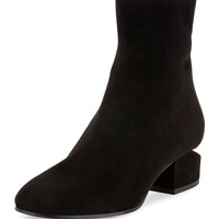 Alexander Wang Kelly Suede Block-Heel Boot, Black