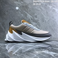 hcxx A1002 Adidas Sharks Concept Fashion Casual Running Shoes Brown  Gray