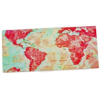 "KESS InHouse Alison Coxon ""Oh The Places We'll Go"" World Map Office Desk Mat, Blotter, Pad, Mousepad, 13 x 22-Inches"